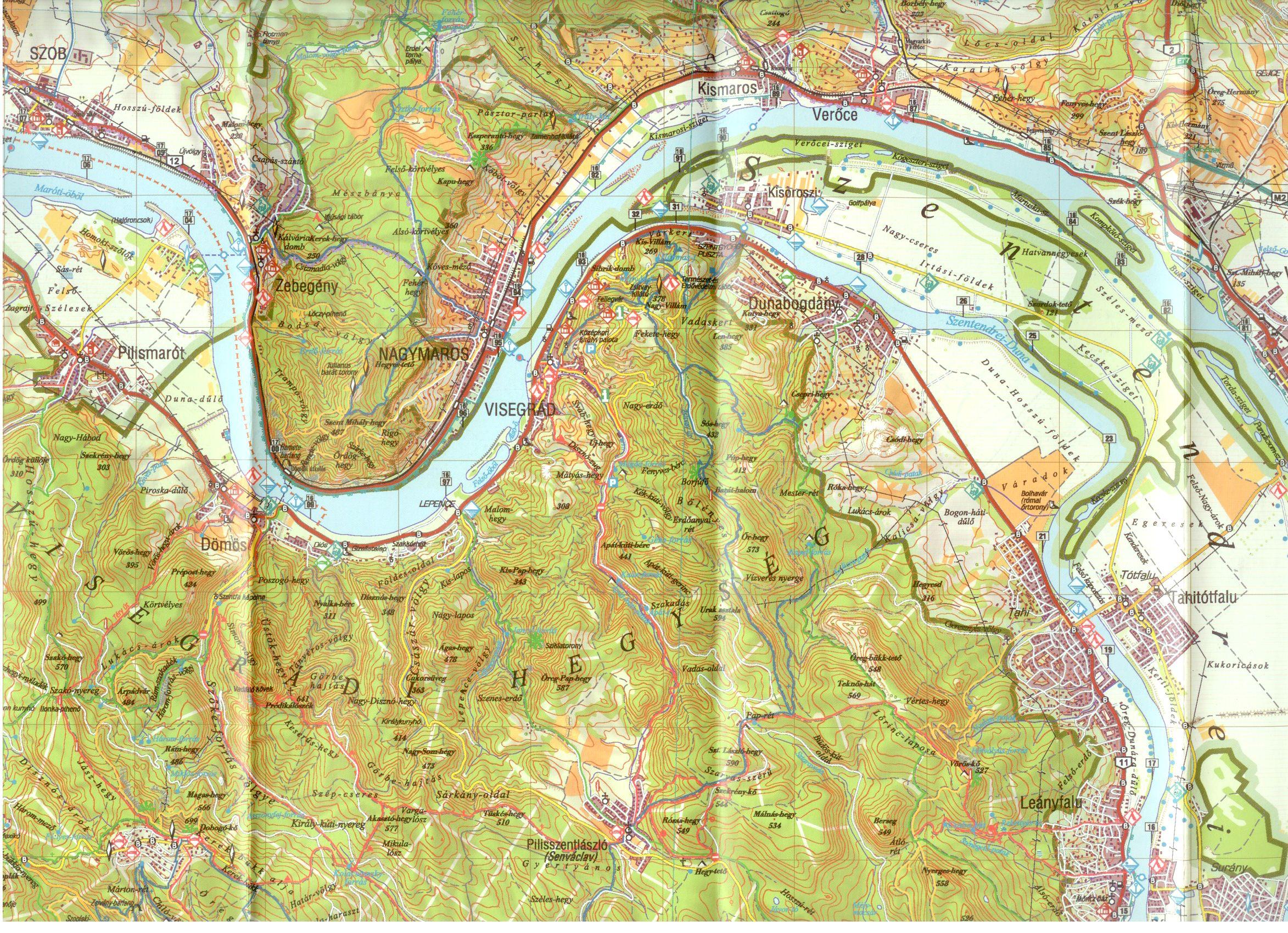 Duna-Ipoly NP térképminta