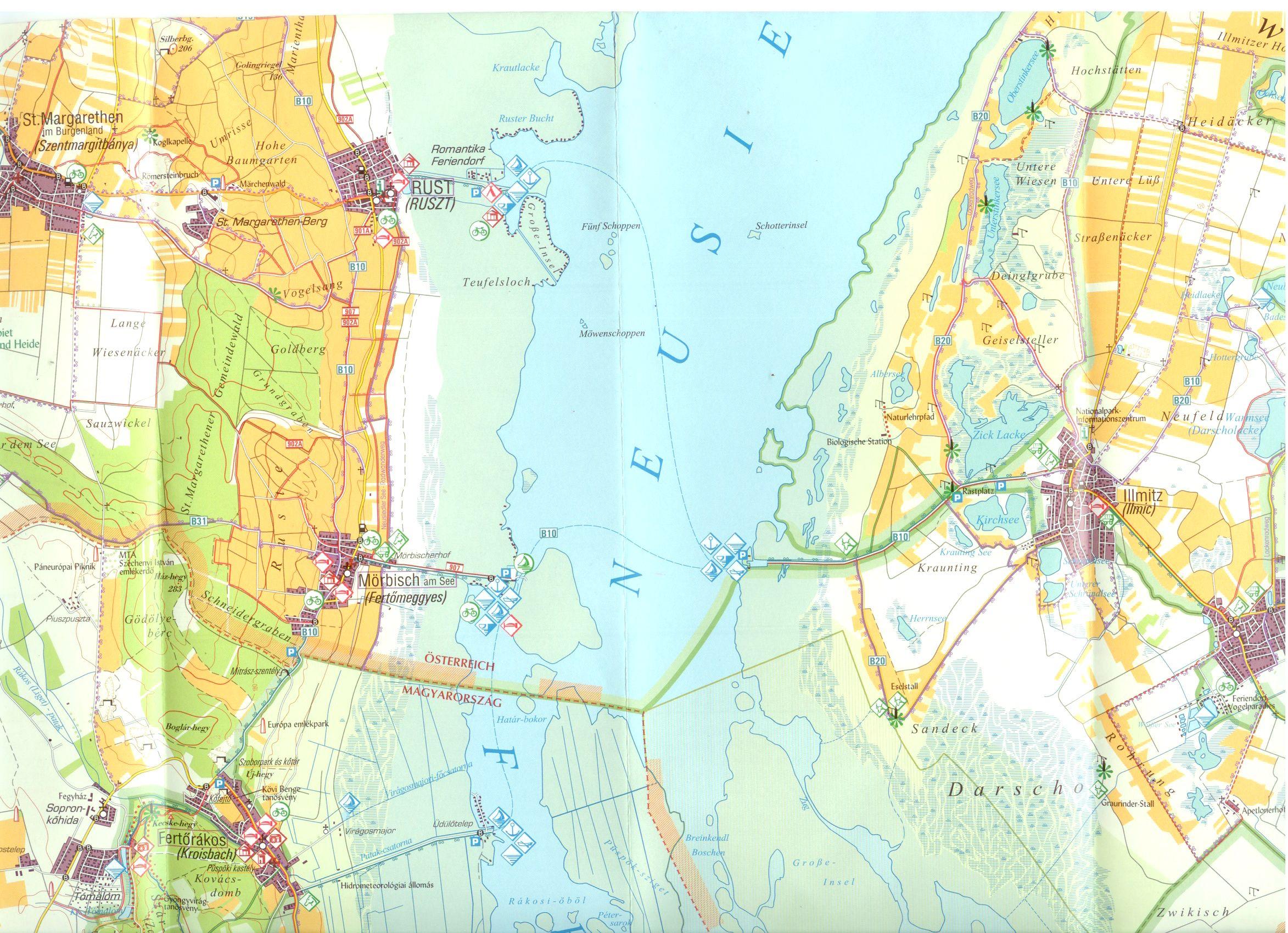Fertő-Hanság NP térkép mintakivágat 1