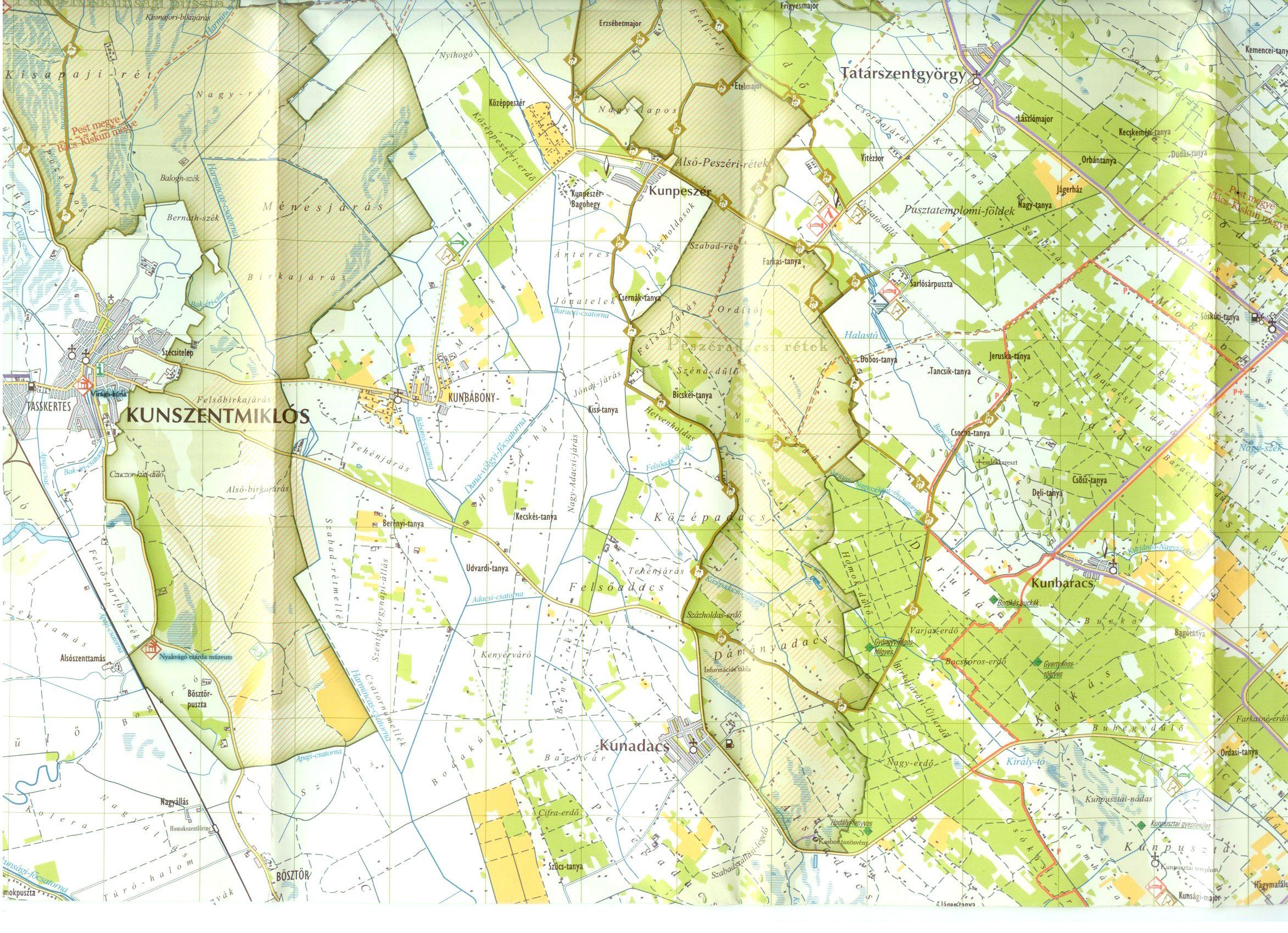 Kiskunság NP térképminta