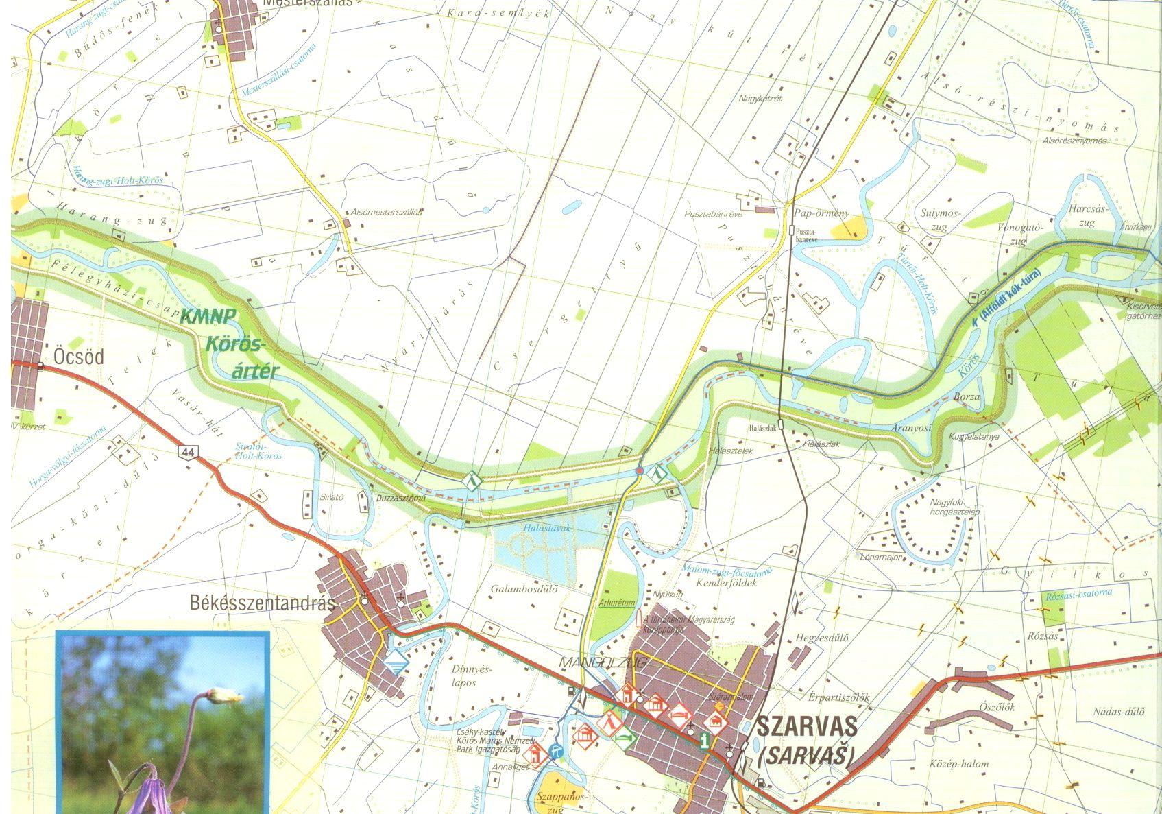 Kőrös-Maros NP térképminta