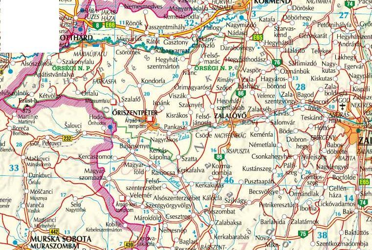 Az Őrség-Göcsej-térkép által lefedett terület