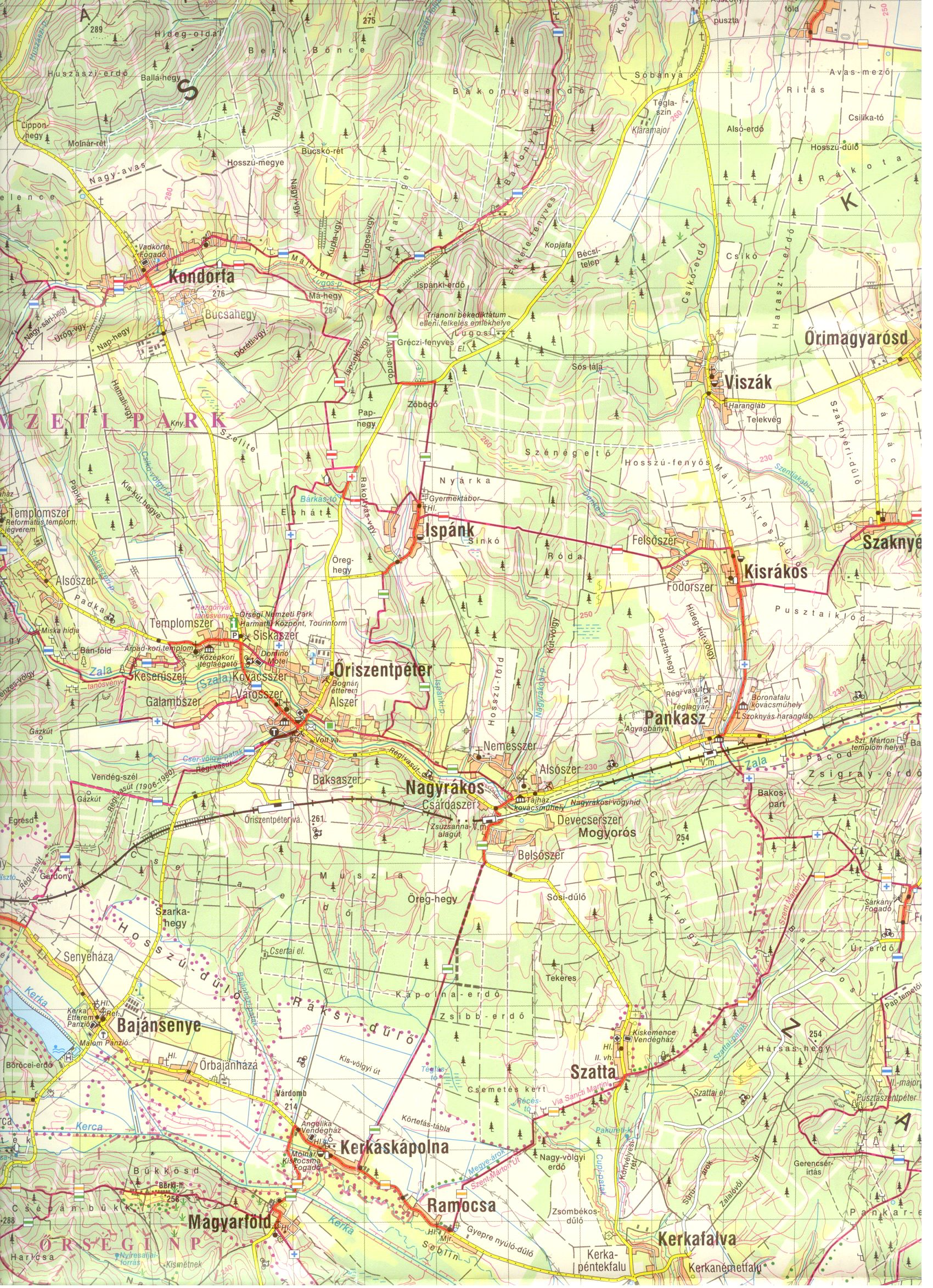 Őrség-Göcsej: térképminta