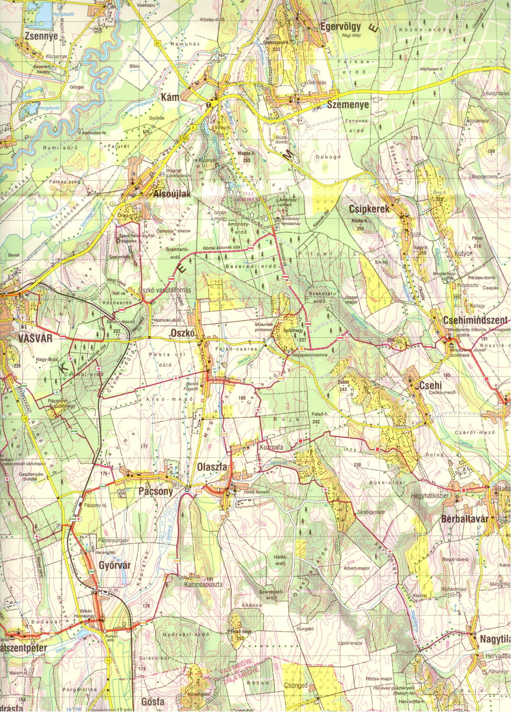 Kemenshát: térképminta