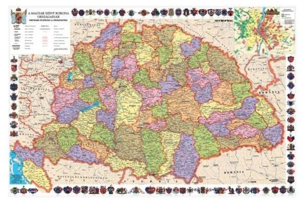 A Szent korona országai térkép által lefedet terület