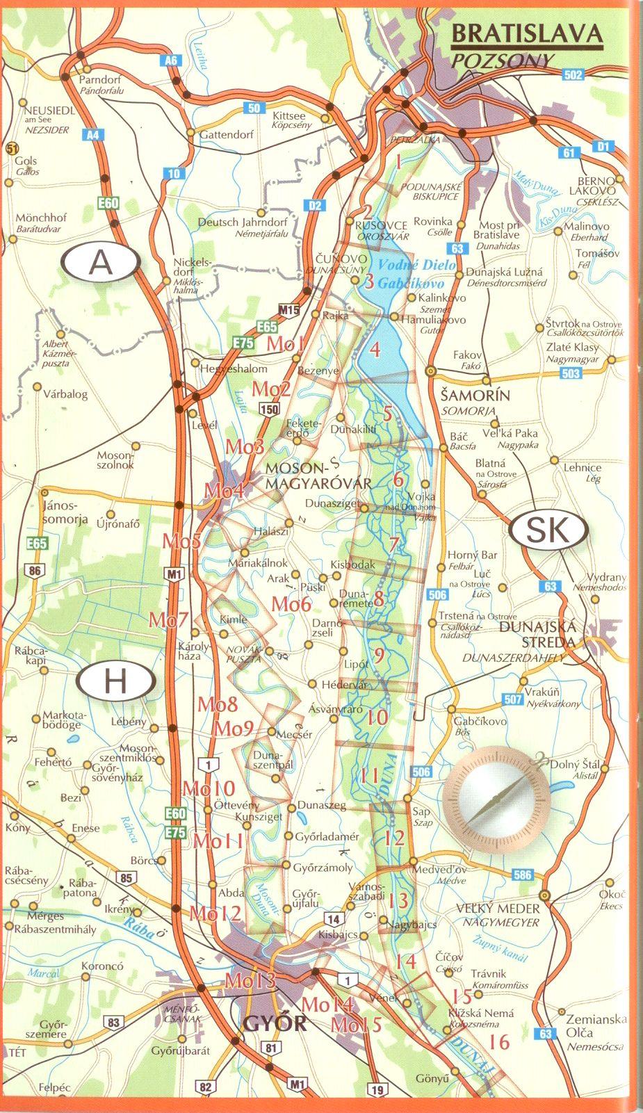 Duna 1: Mosoni-Duna szelvények áttekintője