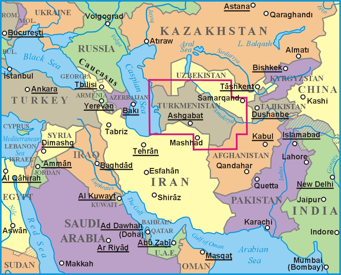 Türkmenisztán a világtérképen