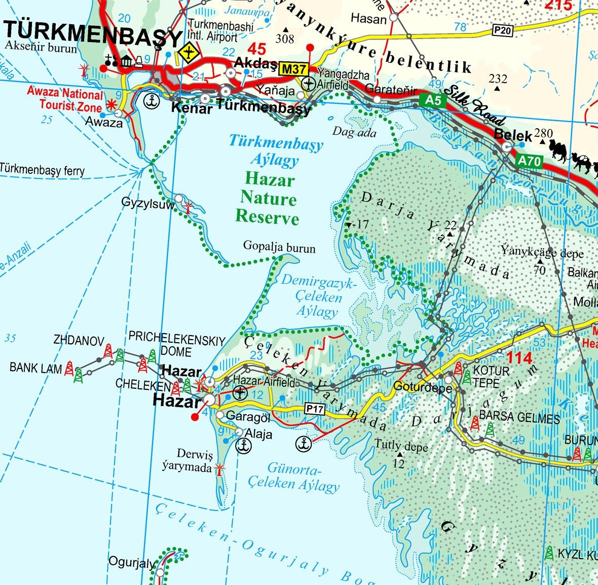 Türkmenisztán térkép minta