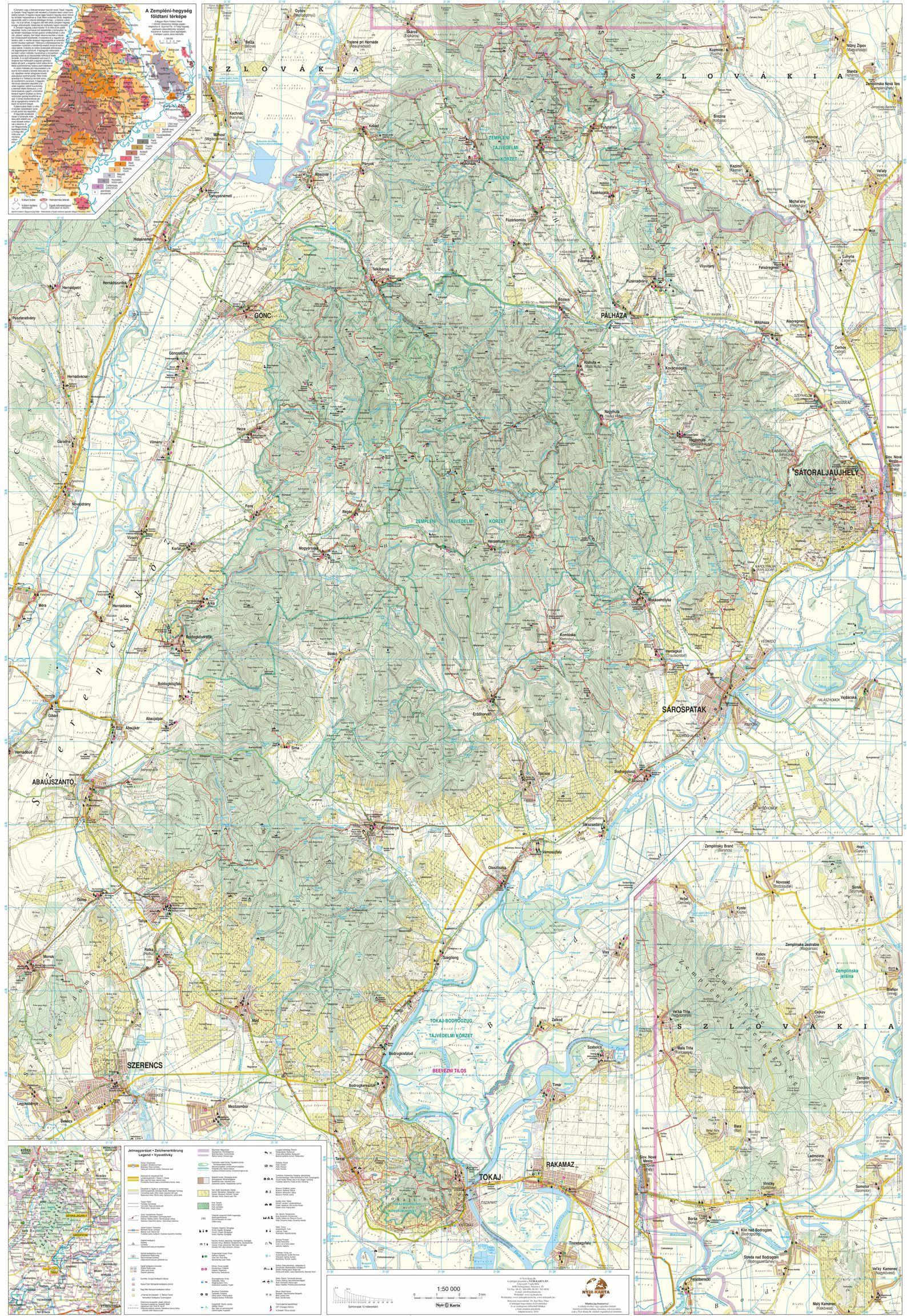 A zemléni-hegység térkép által lefedett terület