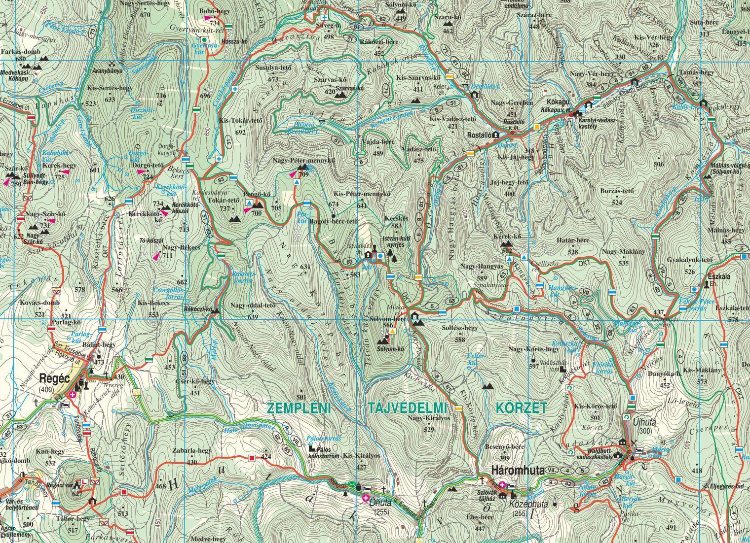 Zempléni-hegység minta 1:50.000