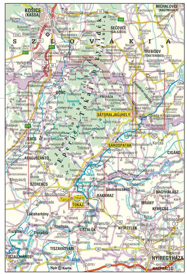 A Zempléni-hegység áttekintő térképe