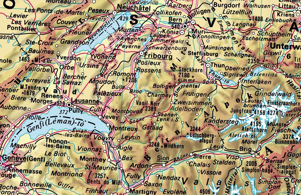Földrajzi Világatlasz mintatérkép kinagyítva