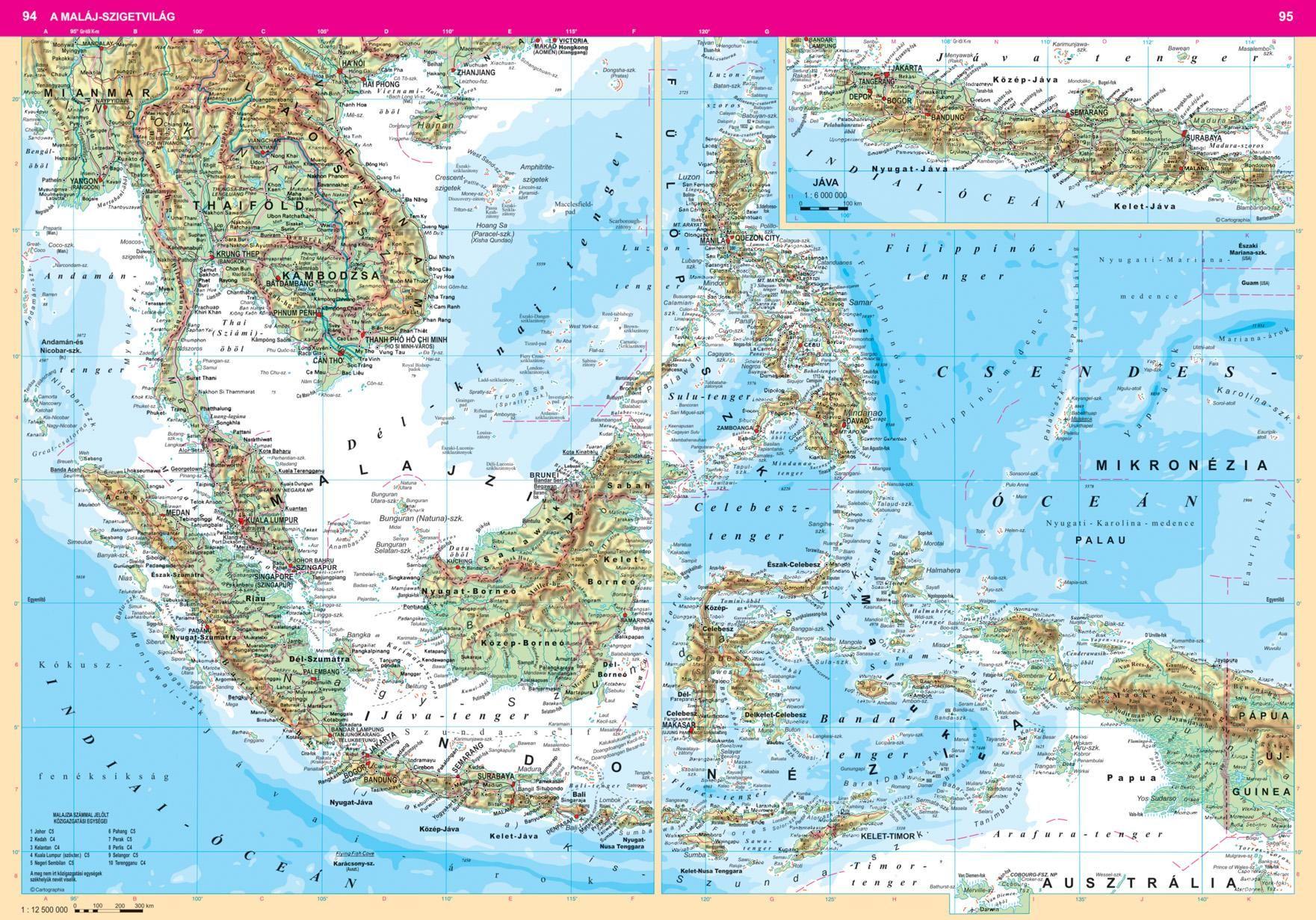 Földrajzi Világatlasz mintalap (94-95. o.)