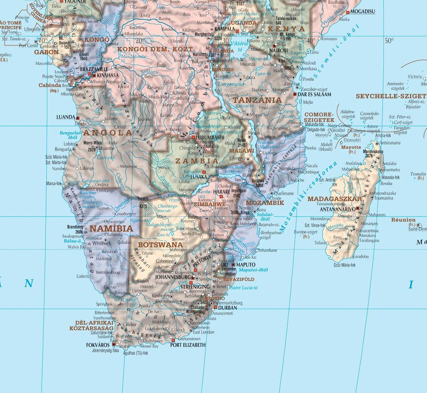 Világtérkép: Afrika minta