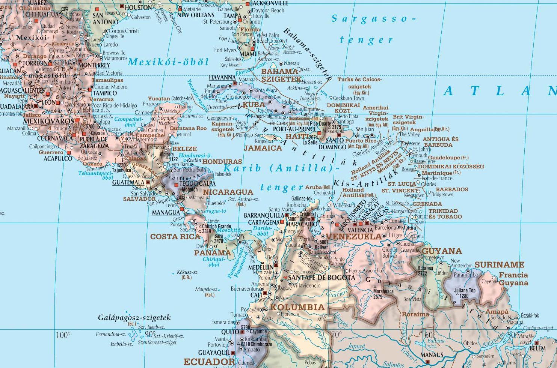 Világtérkép: Karib-szigetek minta