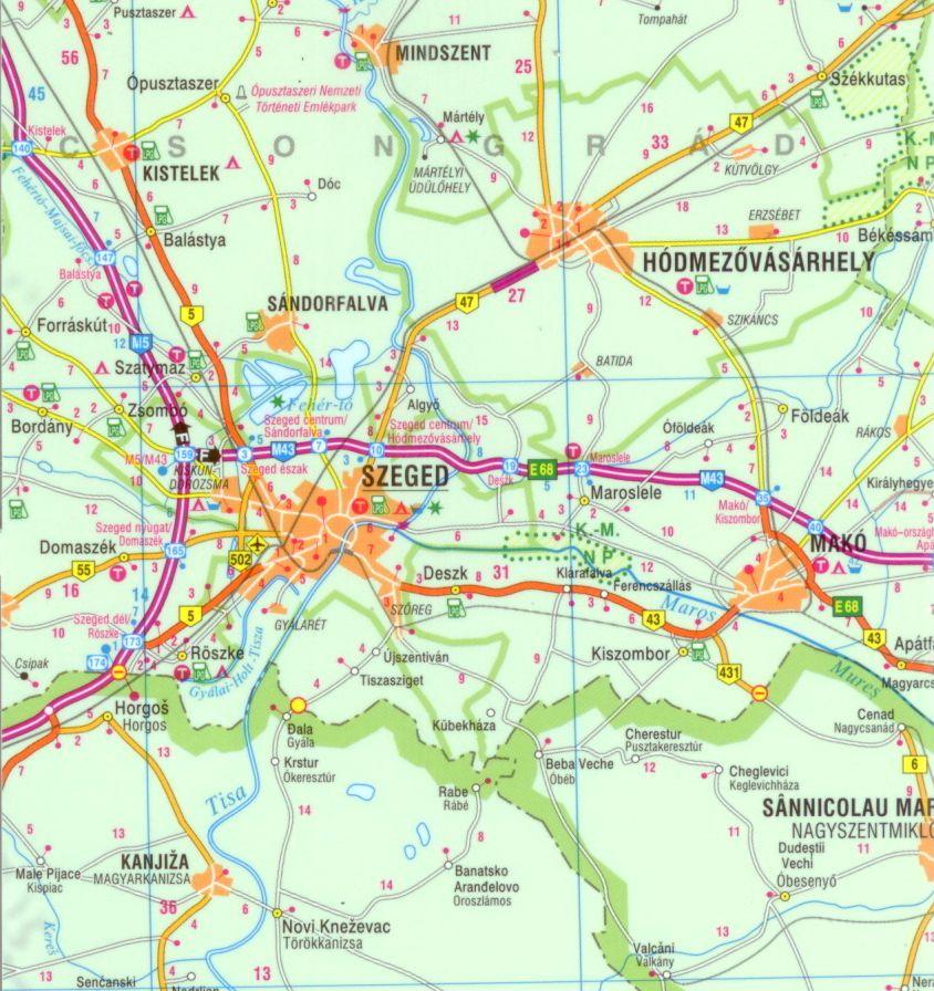 Magyarország Comfort térkép mintája