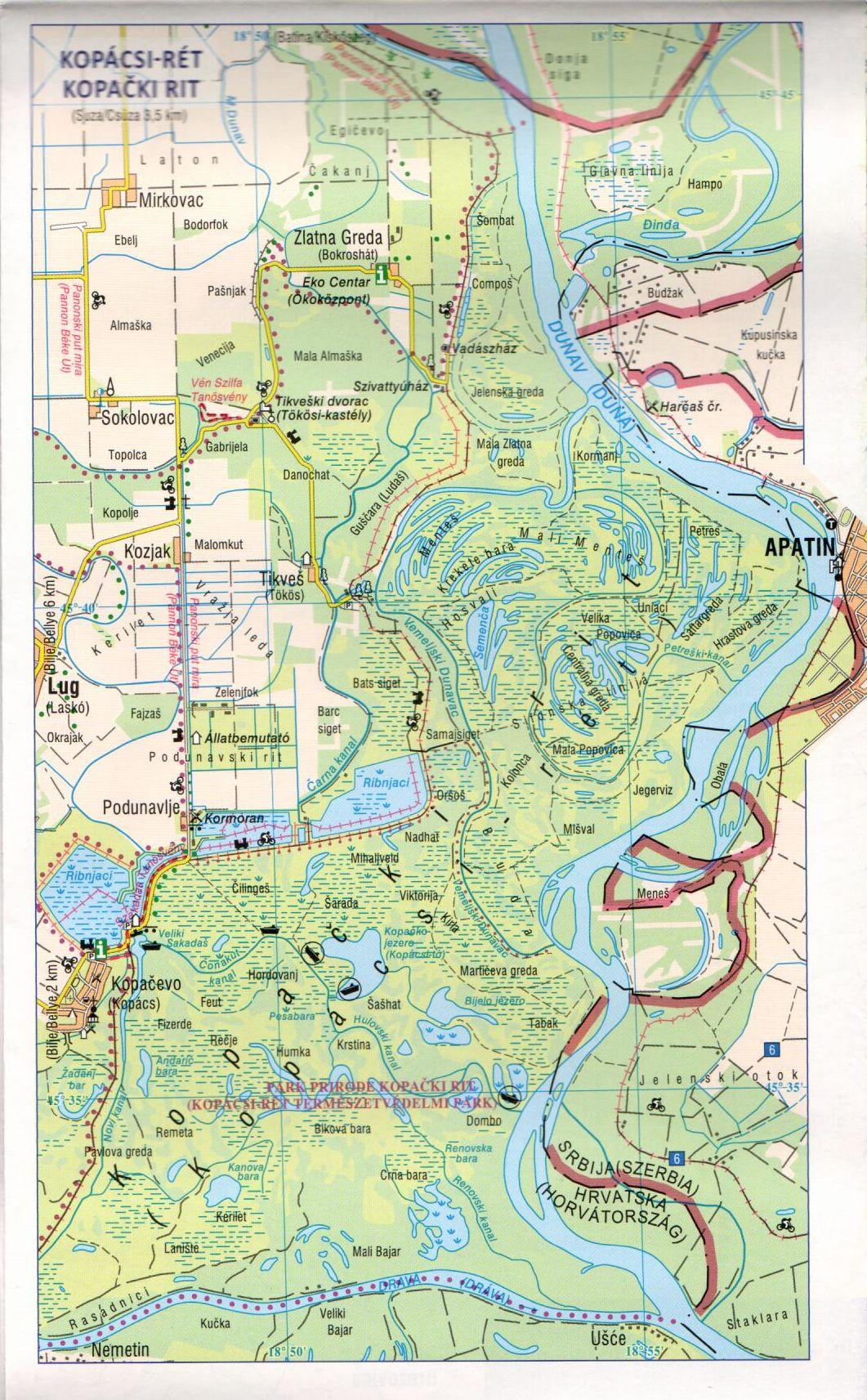 A Dráva térkép mintakivágata 1:120.000