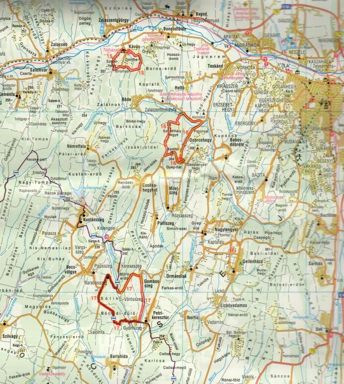 Hármashatár turistakalauz térképmelléklet minta