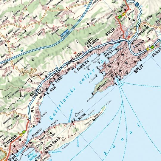 Horvát tengerpart Split környéke