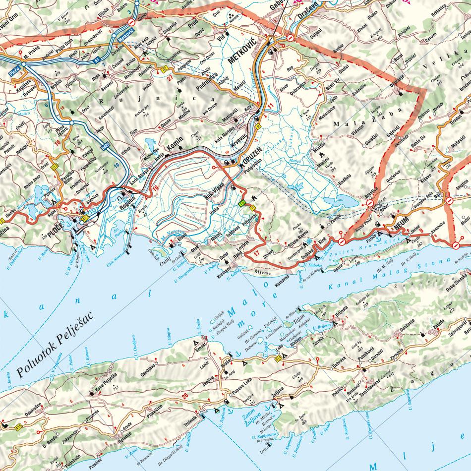 Horvát tengrepart: Ploce környéke