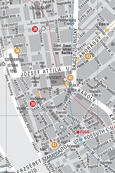 Budapest kortárs építészete: térképminta