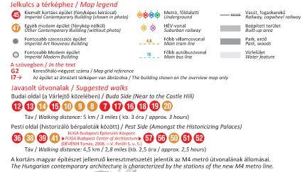Budapest kortárs építészete: jelmagyarázat