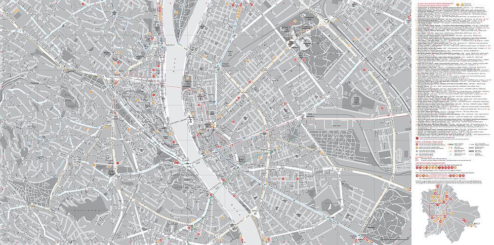 Budapest kortárs építészete: a térkép által lefedett terület
