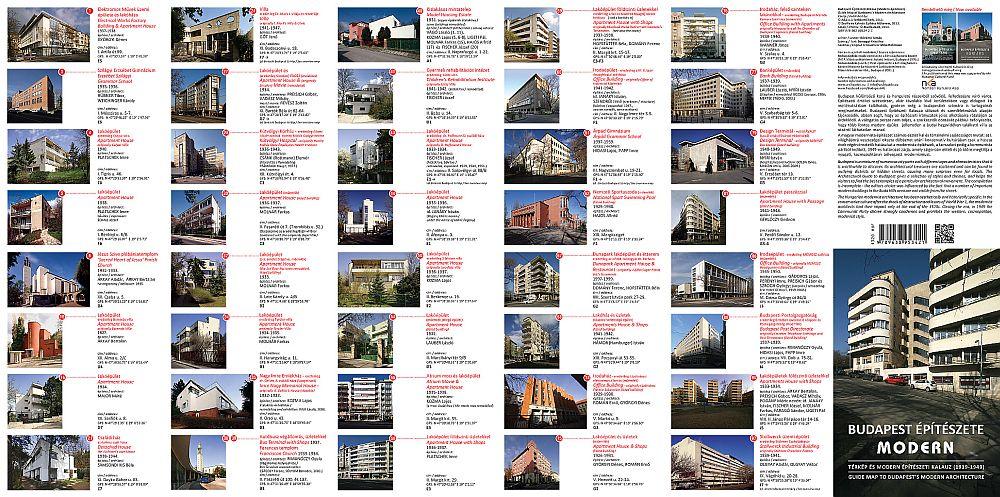 Buapest modern építészete: a hátoldali fényképes rész