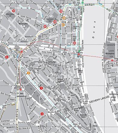 Buapest modern építészete: térkép minta