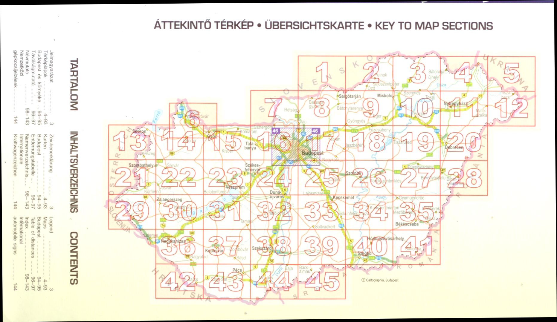 A Magyarország lapok áttekintő térkép