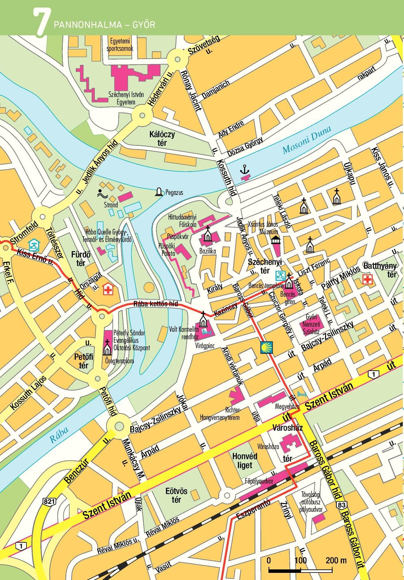 Szent Jakab út térképminta