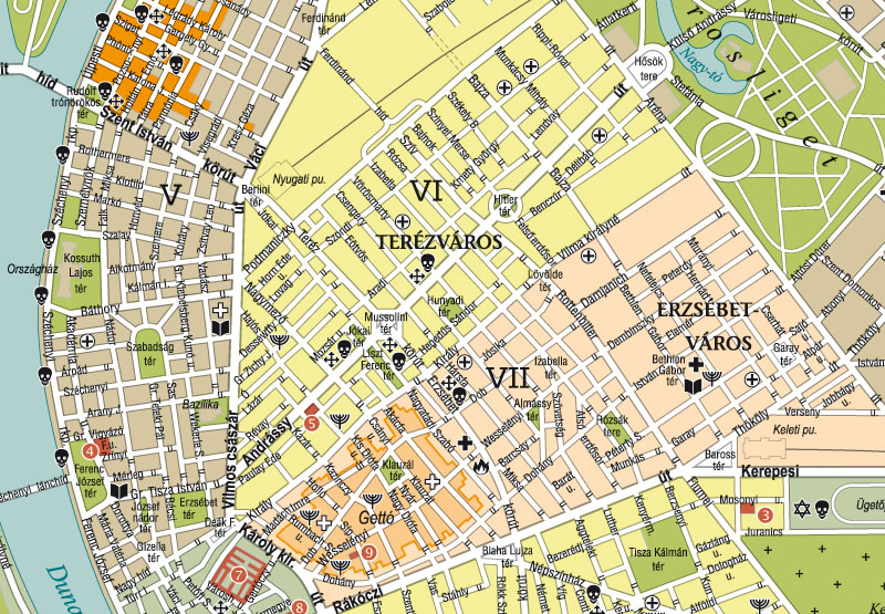 Holocaust Budapest térkép mintakivágat