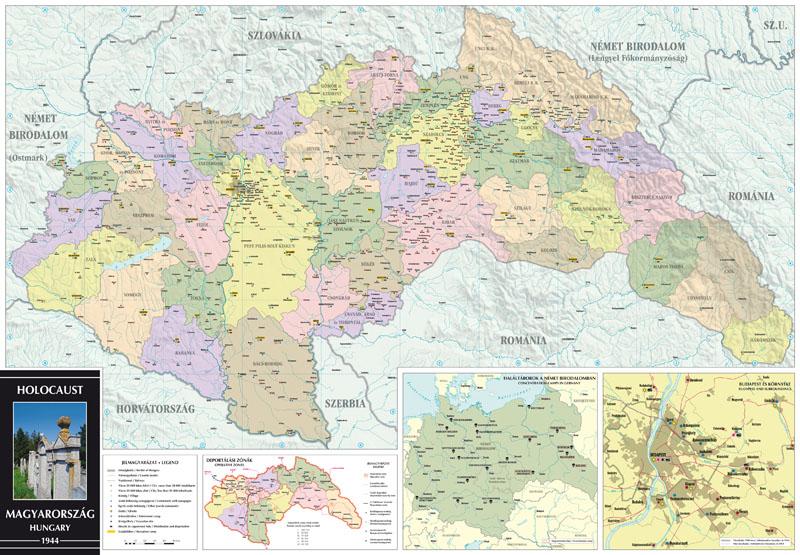 A Holocaust Magyarország térkép által lefedett terület