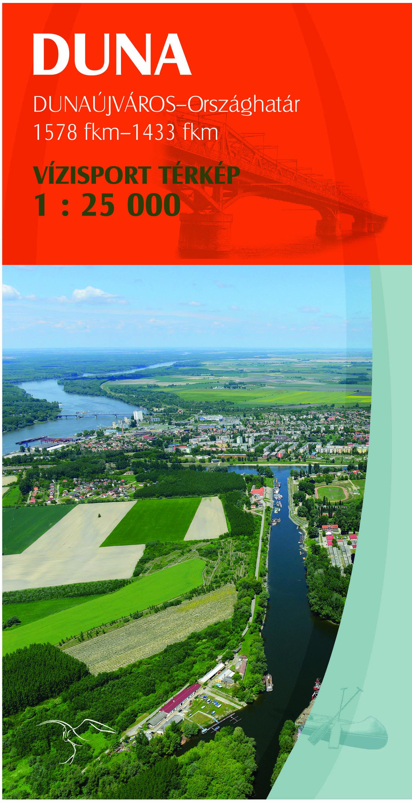 Részletes vizisport térkép (Duna 4: Dunaújváros - déli országhatár)