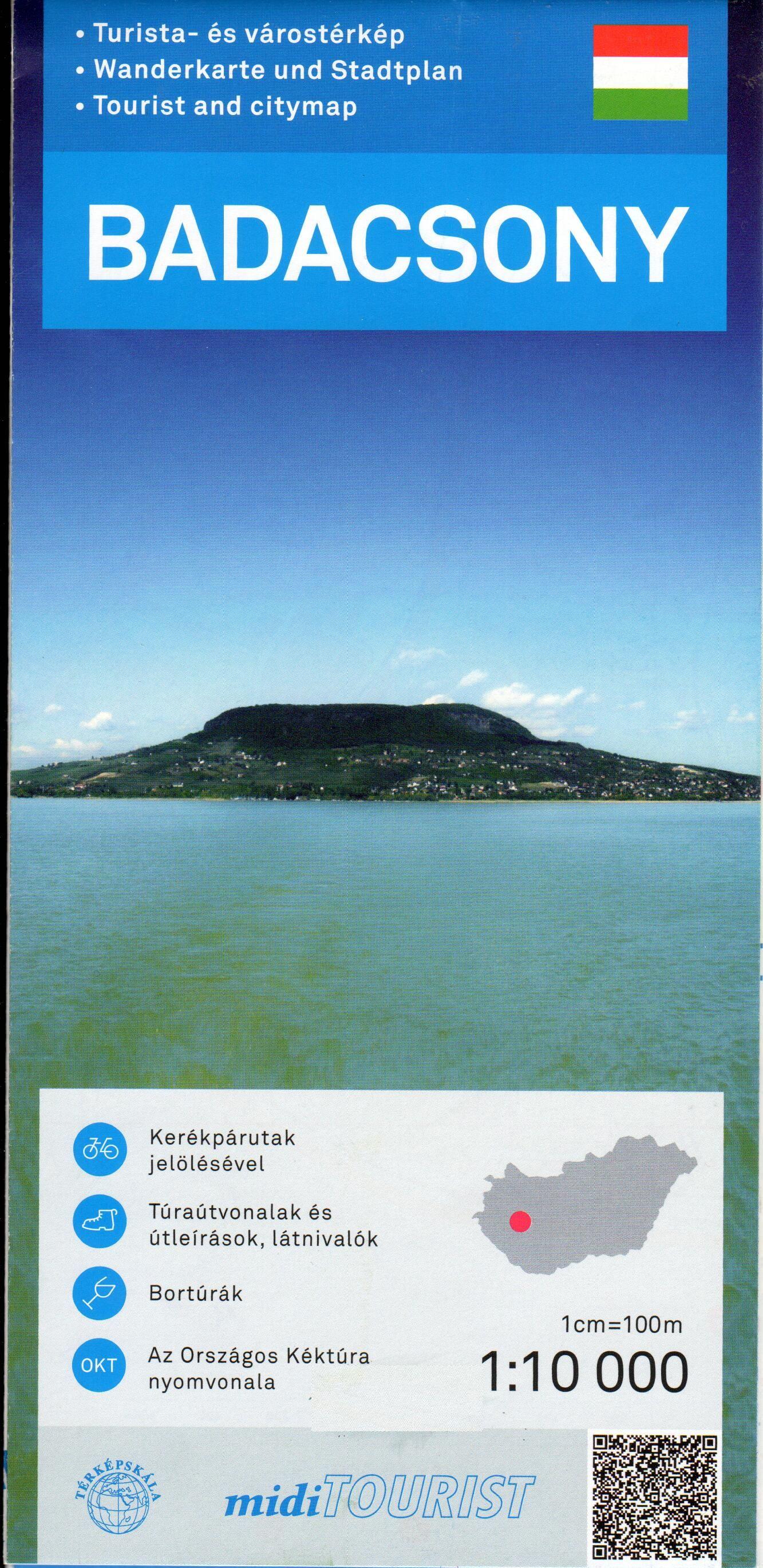 Turista- és várostérkép három nyelvű mini turiusta kalauzzal