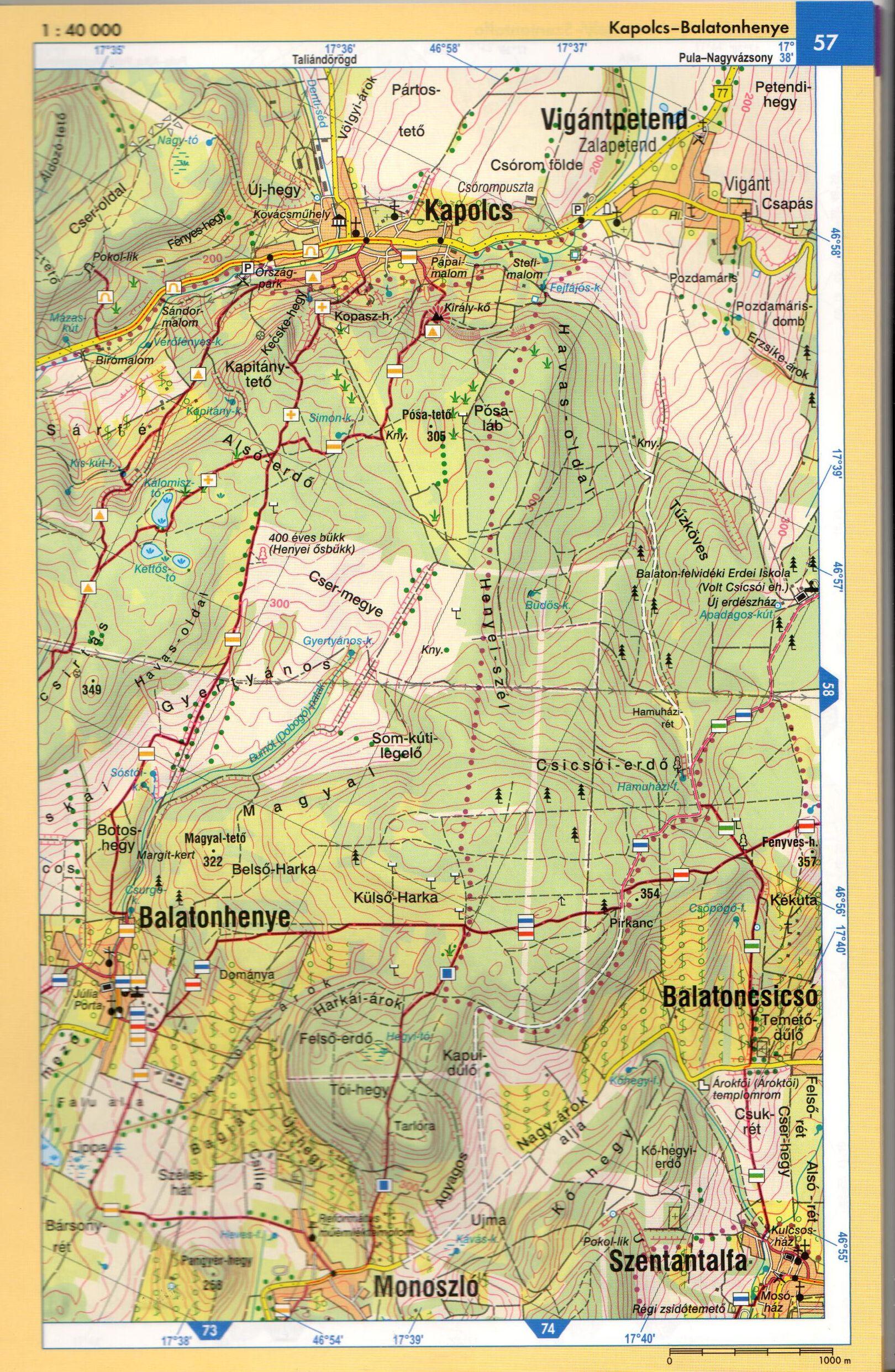 Balaton-felvidék atlasz térképes mintalap