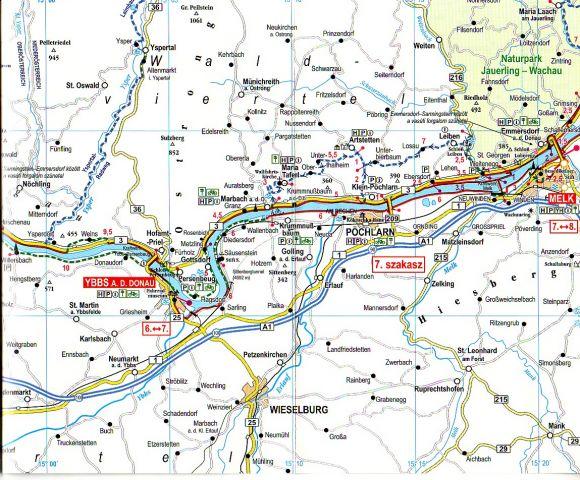 Duna-menti kerékpárút térképminta