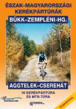 160 oldal, 18 kerékpártúra és MTB túraajánlat, színes fotók, várostérképek, színes útvonaltérkép-melléklet (Bükk, Zempléni-hg, Aggtelek, Cserehát).