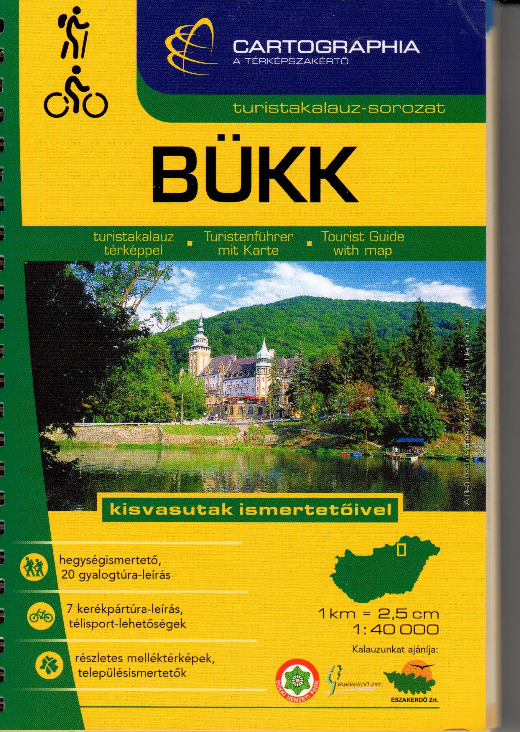 20 gyalagos túra leírás és 4 kerékpáros útvonal ajánlat,. a kisvasutak ismertetőivel. Bogács, Cserépfalu, Eger, Lillafüred és Szilvásvárad részletes térképével