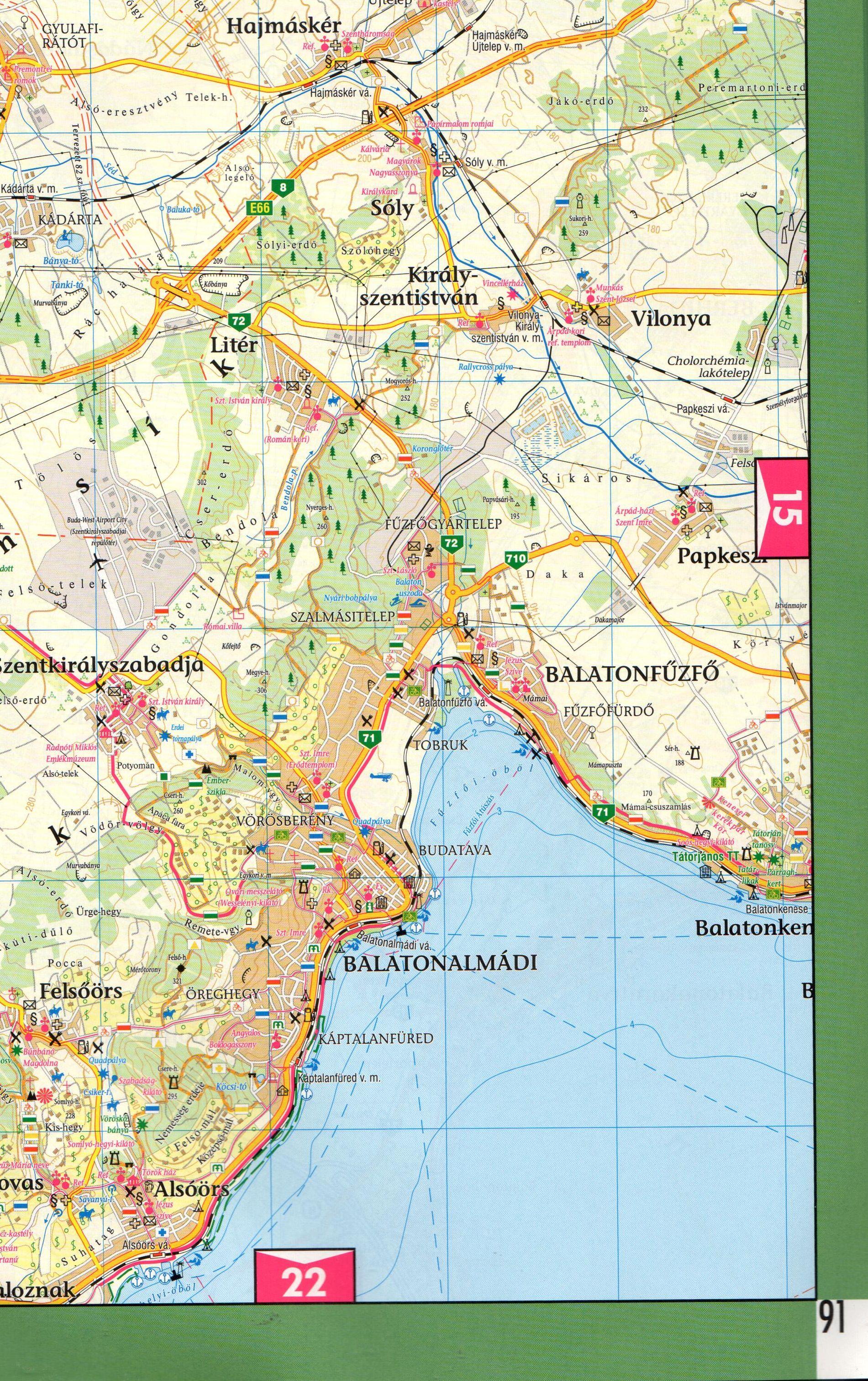Bakony-Balaton atlasz turistatérkép minta