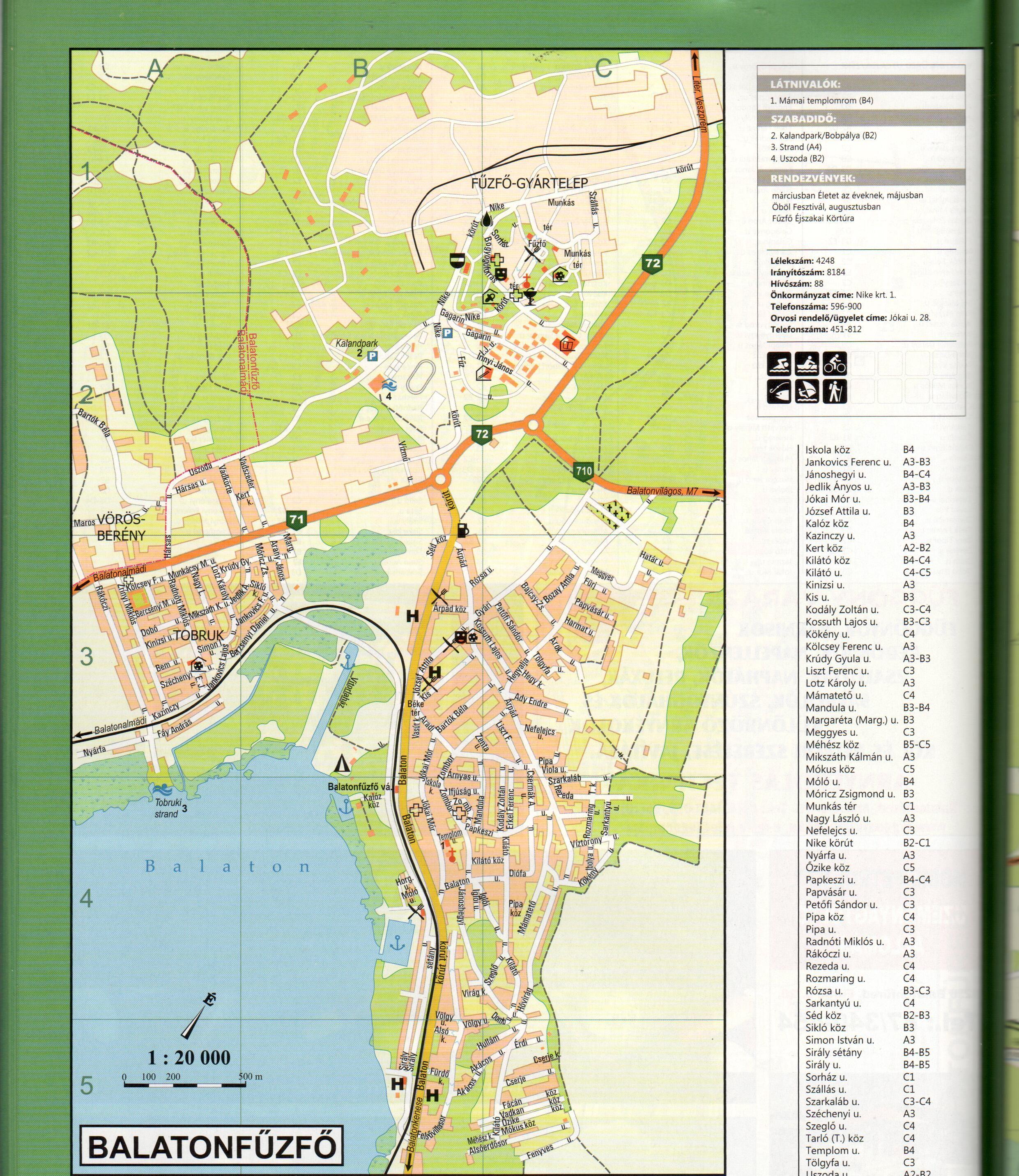 Bakony-Balaton atlasz várostérkép minta