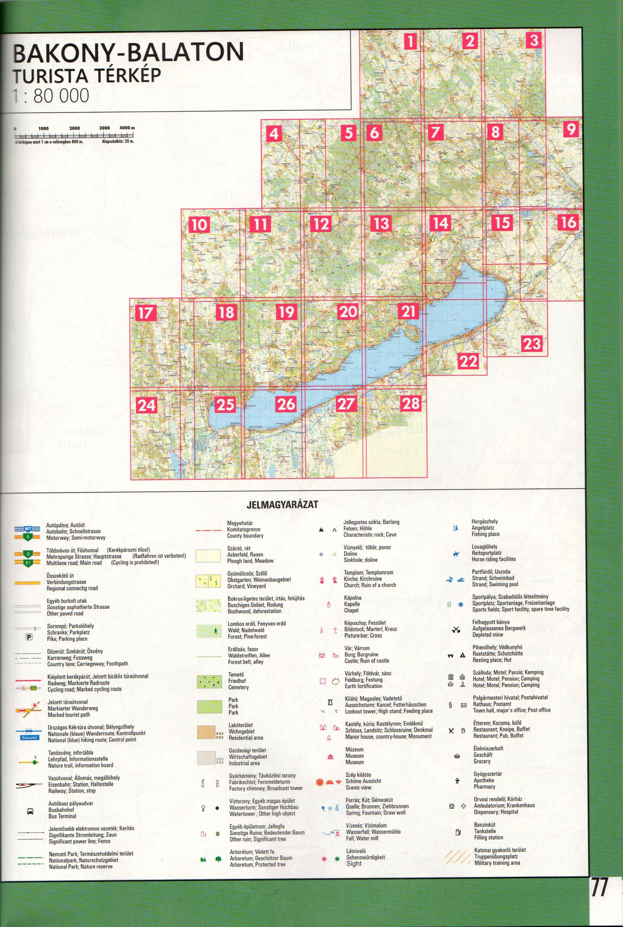 Bakony-Balaton atlasz oldalbeosztás
