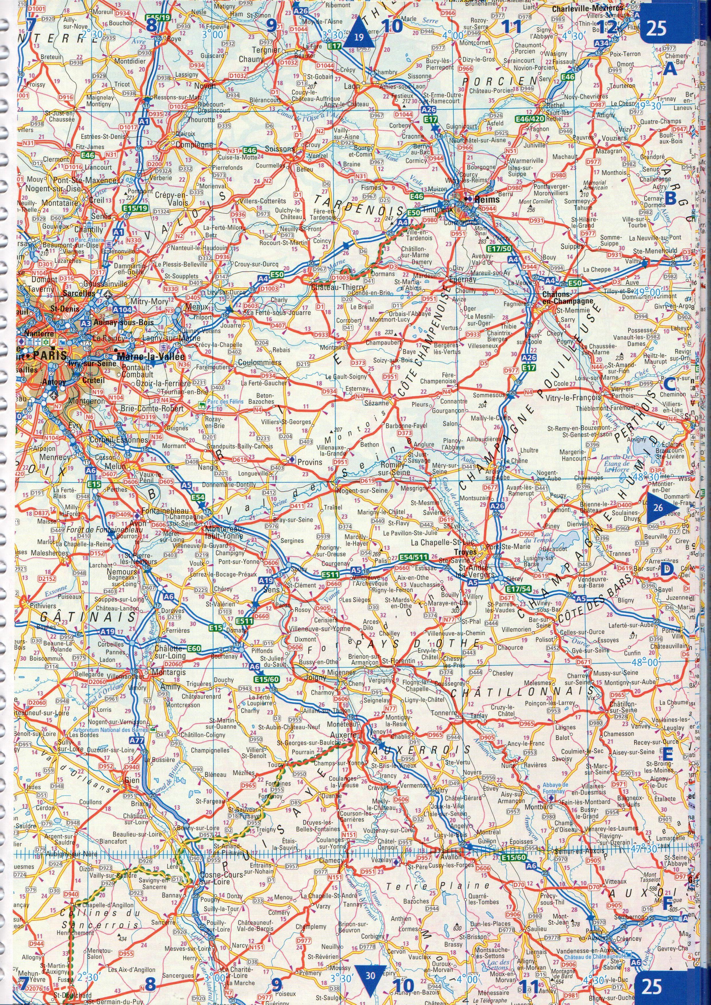 Collins Európa atlasz: mintaoldal