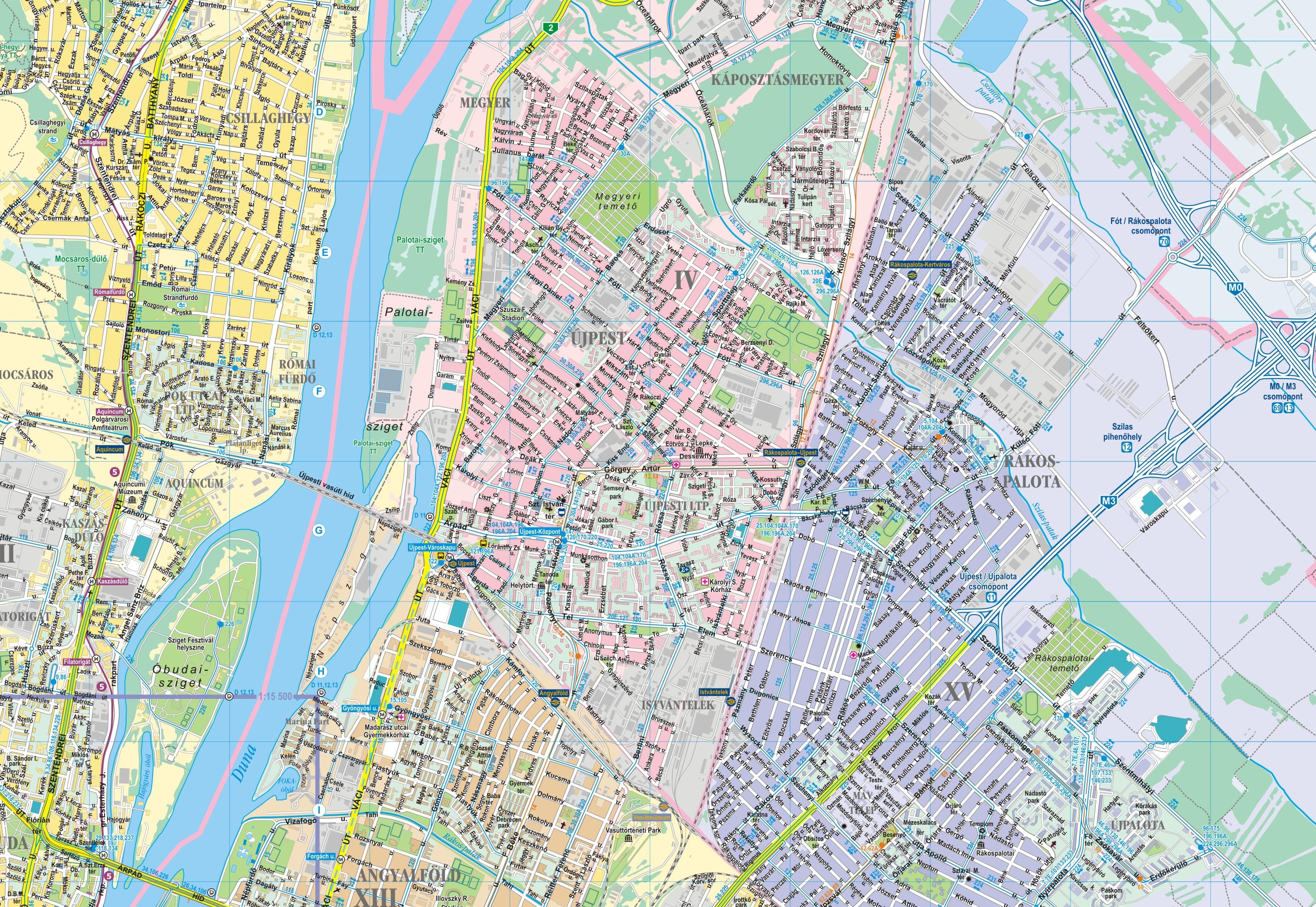Budapest falitérképe részlet