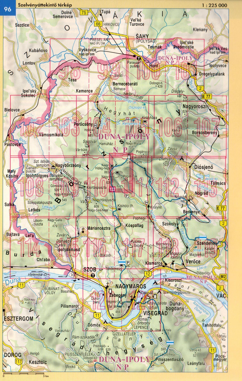 Börzsöny atlasz áttekintő térkép