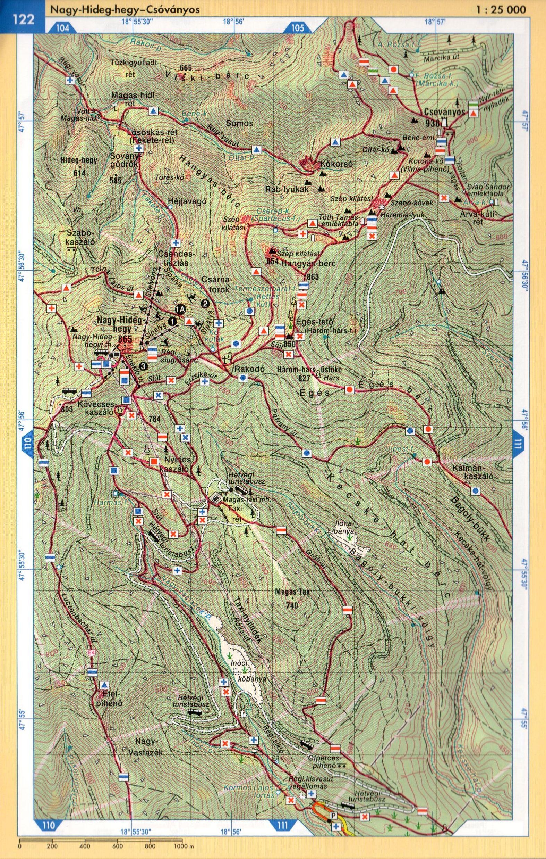 Börzsöny atlasz térképminta 1:25.000