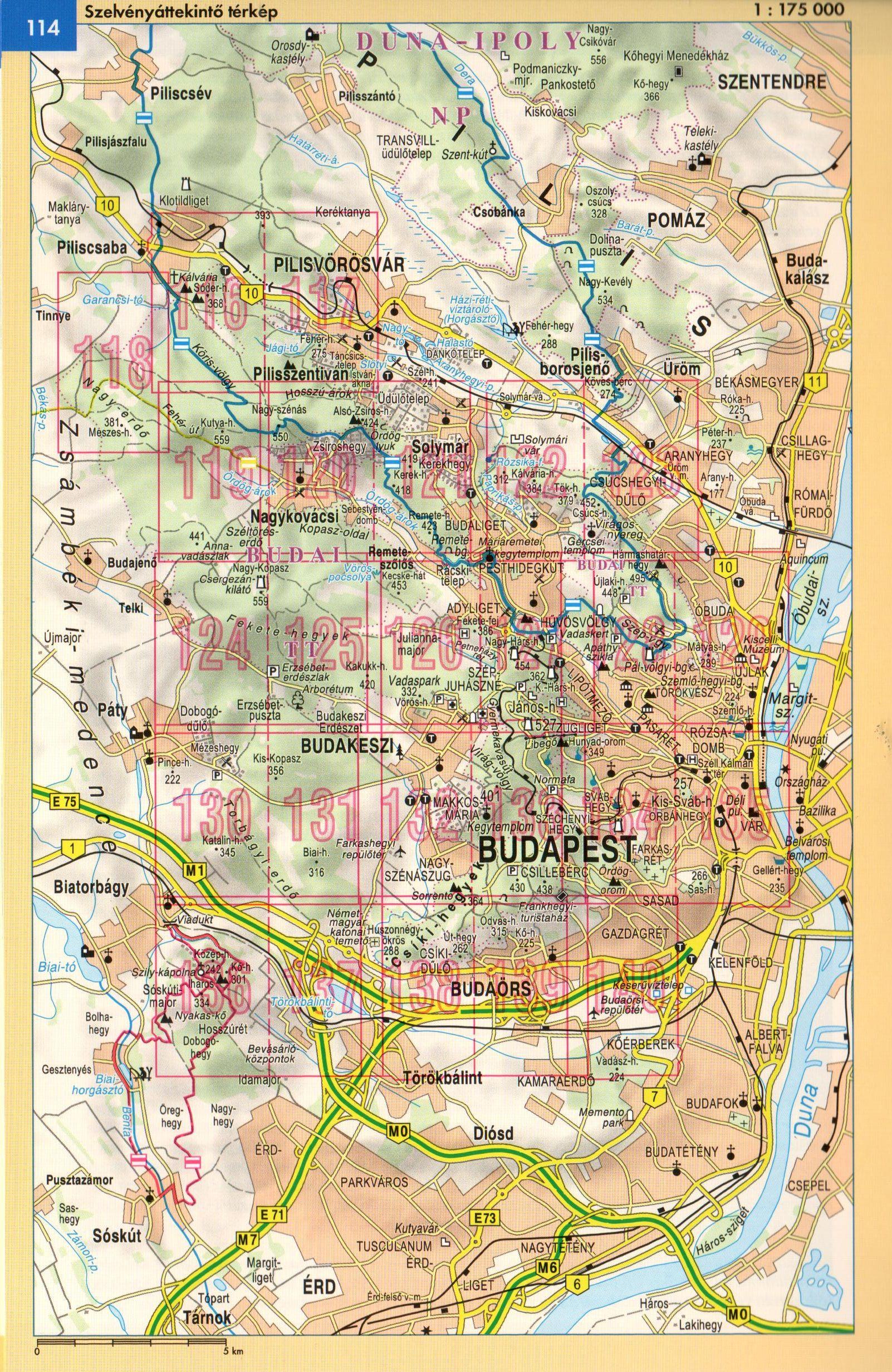 Budai-hegység áttekintő térkép