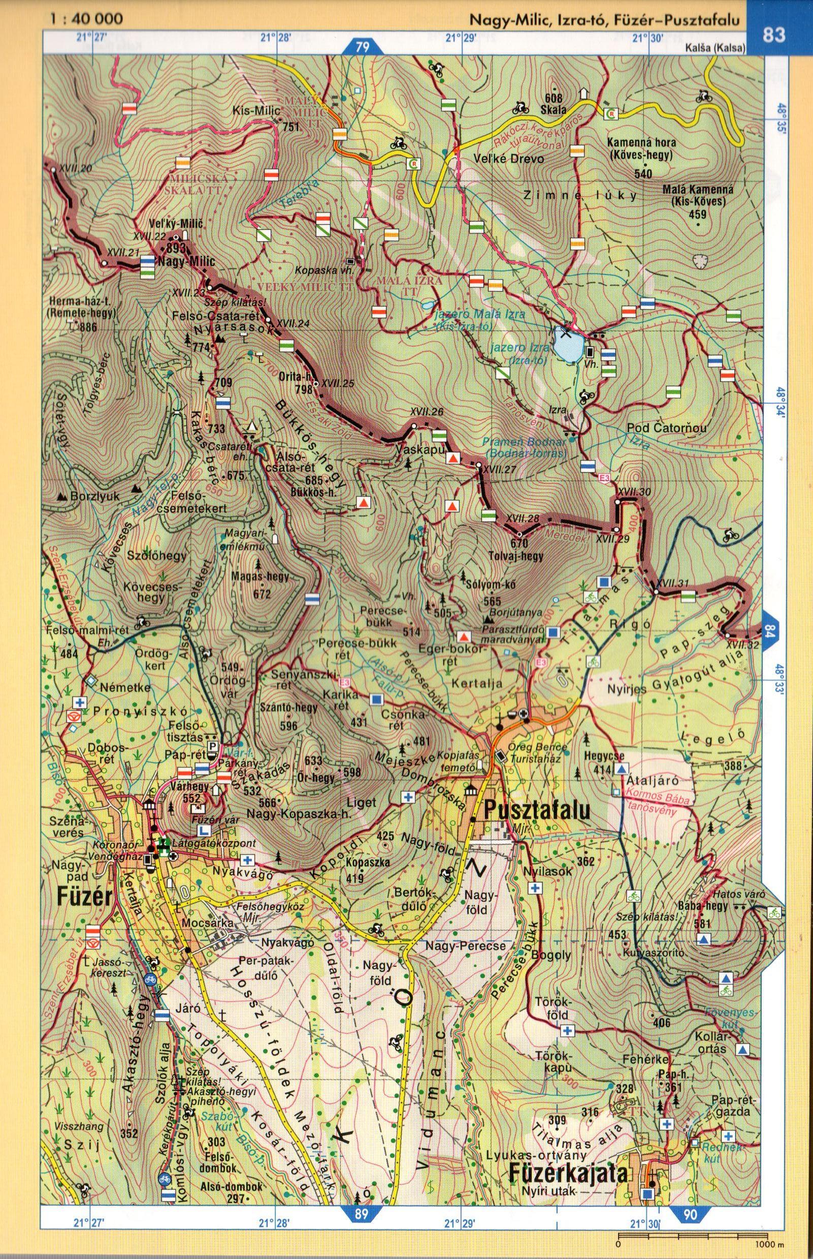 Zemplén atlasz mintatérkép