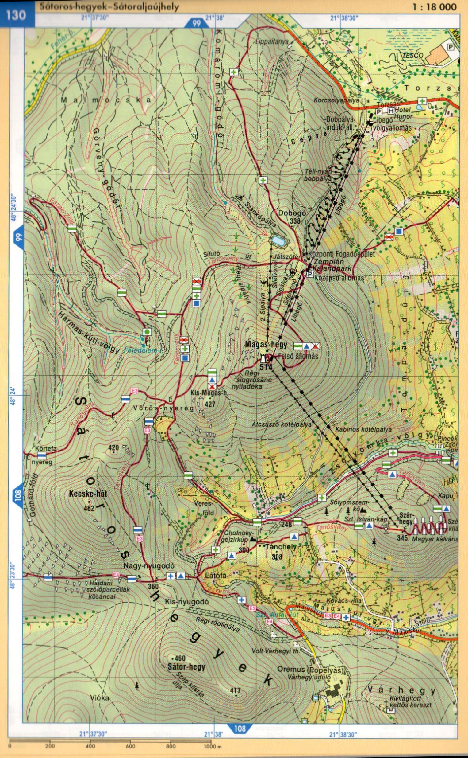 Zemplén atlasz mintatérkép 1:18.000