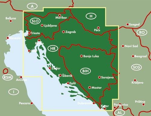 A térkép által lefedett terület