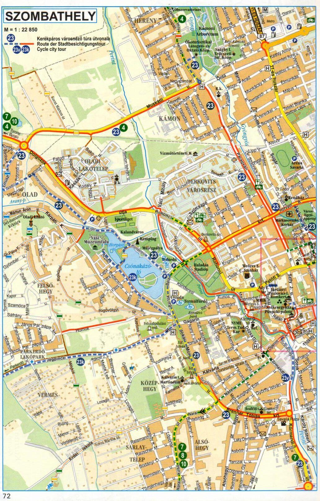 Őrség-Alpokalja atlasz mintatérkép: Szombathely
